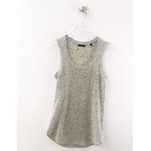 atm / cashmere speckled soft sleeveless donegal